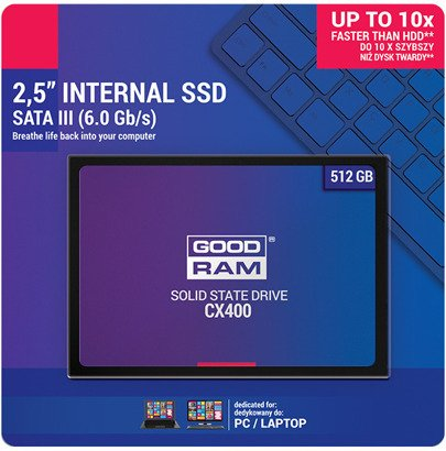 "DYSK SSD GOODRAM CX400 512GB 2,5"" TLC"