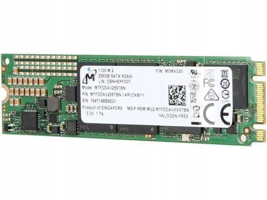 DYSK SSD MICRON 256GB M.2 2280 SATA III
